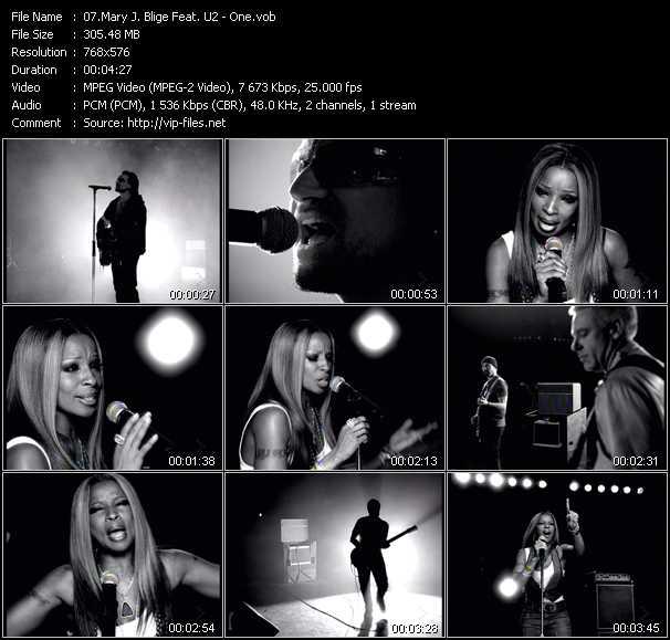Mary J. Blige Feat. U2 video screenshot