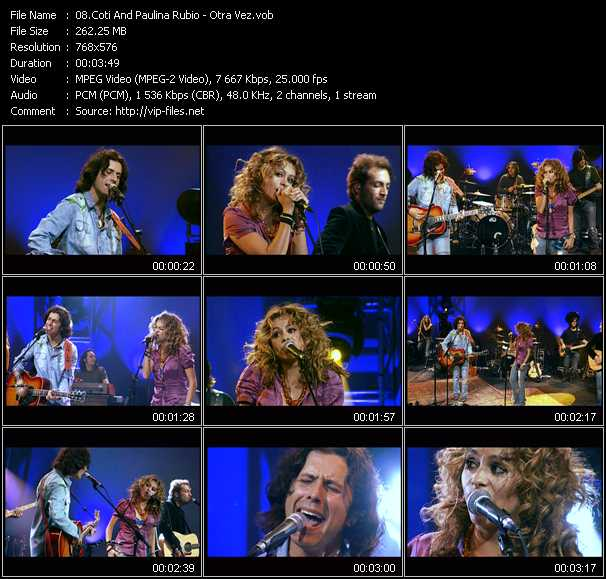 Coti And Paulina Rubio video screenshot