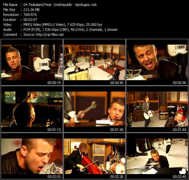Timbaland Feat. OneRepublic video screenshot
