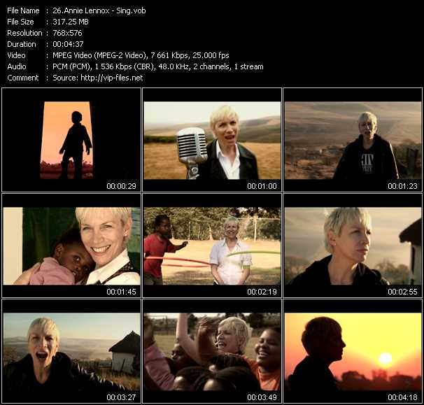 Annie Lennox video screenshot