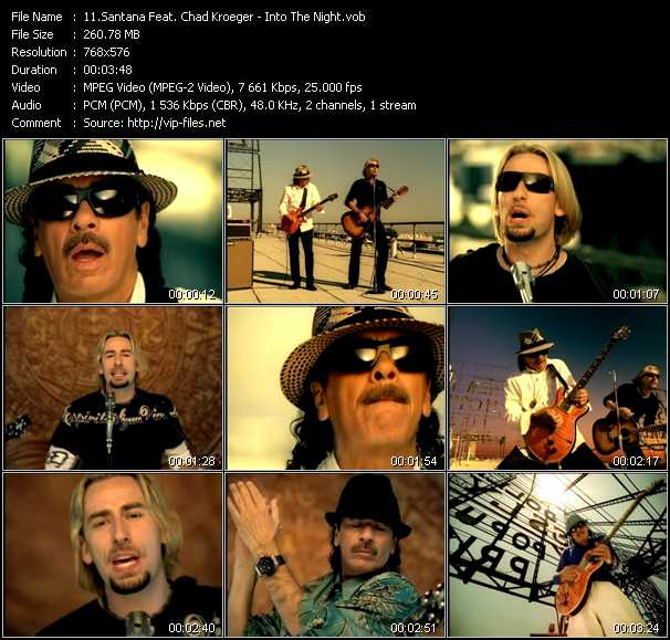 Santana Feat. Chad Kroeger video screenshot