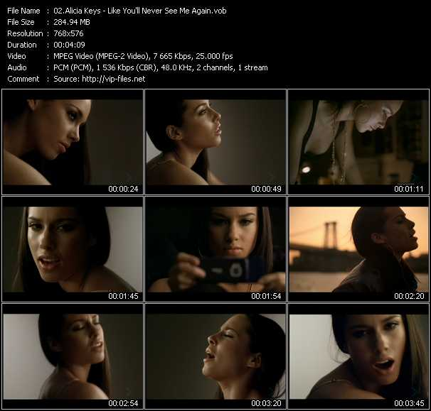Alicia Keys video screenshot