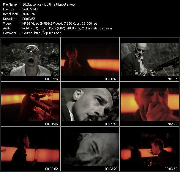 Subsonica video screenshot