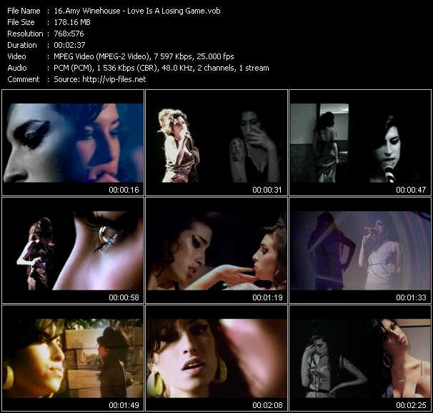 Amy Winehouse video screenshot