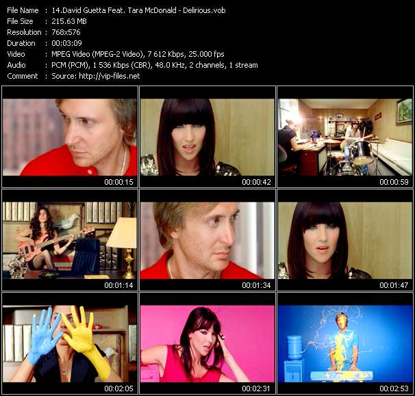David Guetta Feat. Tara McDonald video screenshot