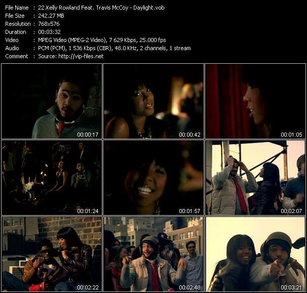 Kelly Rowland Feat. Travis McCoy video screenshot