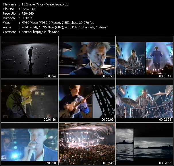 Simple Minds video screenshot