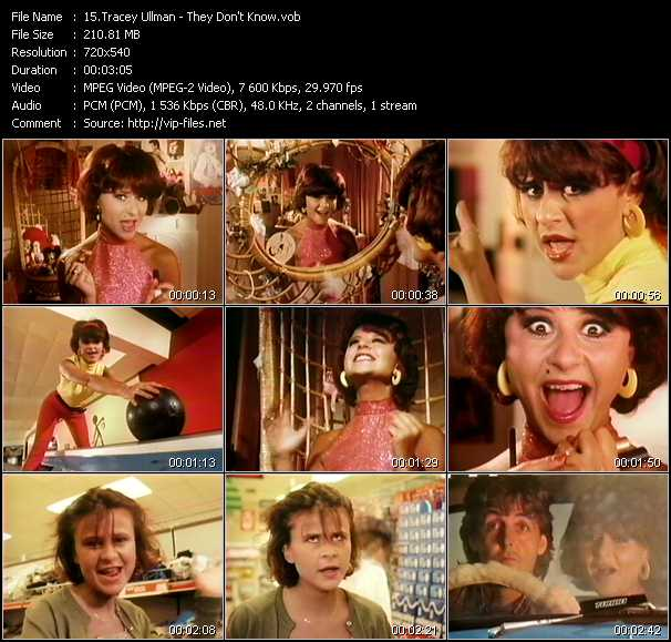 Tracey Ullman video screenshot