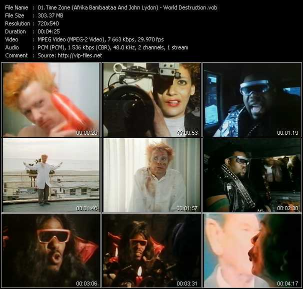 Time Zone (Afrika Bambaataa And John Lydon) video screenshot