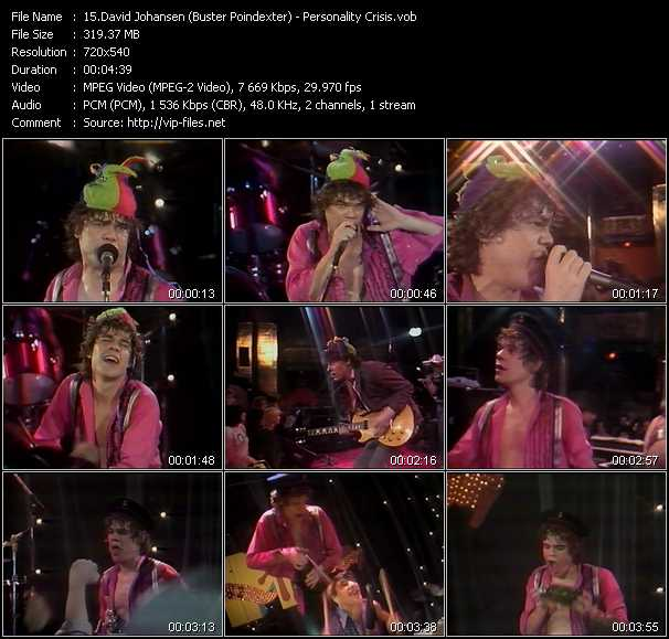 David Johansen (Buster Poindexter) video screenshot