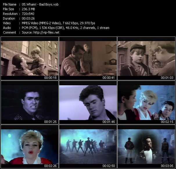 video Bad Boys screen