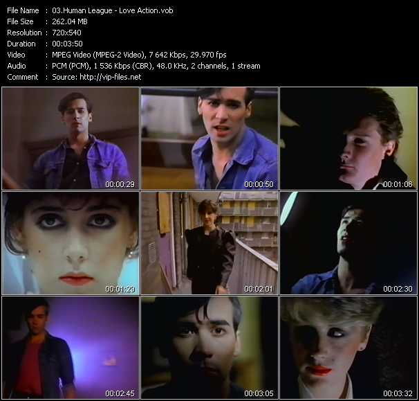 Human League video screenshot