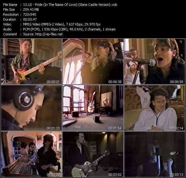 video Pride (In The Name Of Love) (Slane Castle Version) screen
