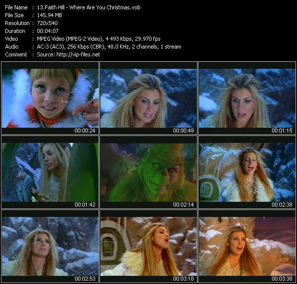 Faith Hill video screenshot