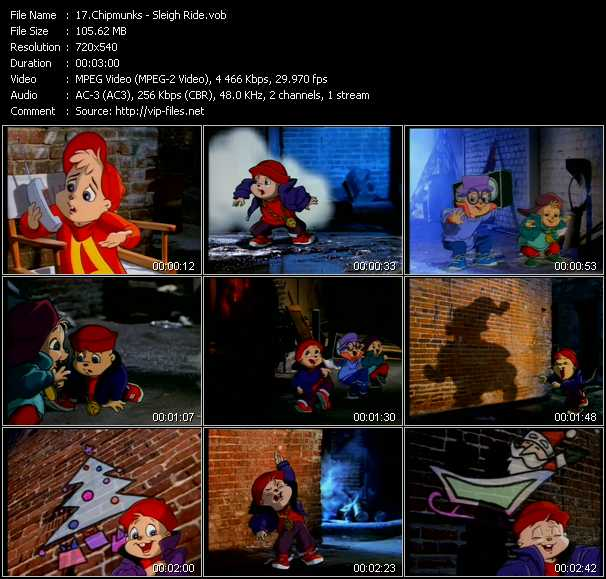 Chipmunks video screenshot
