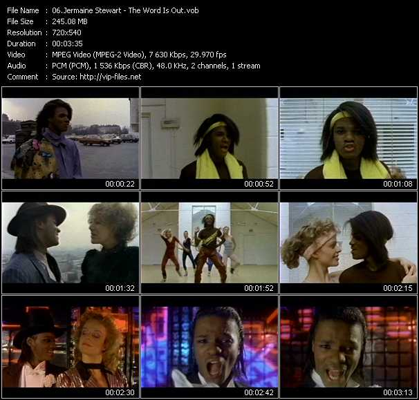 Jermaine Stewart video screenshot