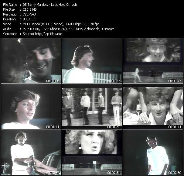Barry Manilow video screenshot