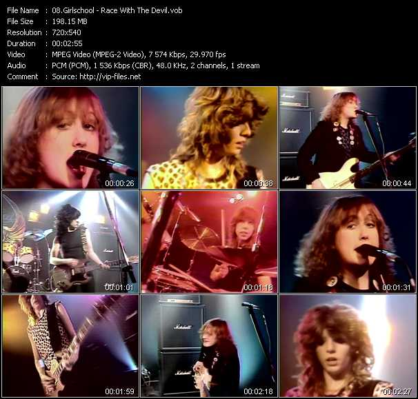Girlschool video screenshot