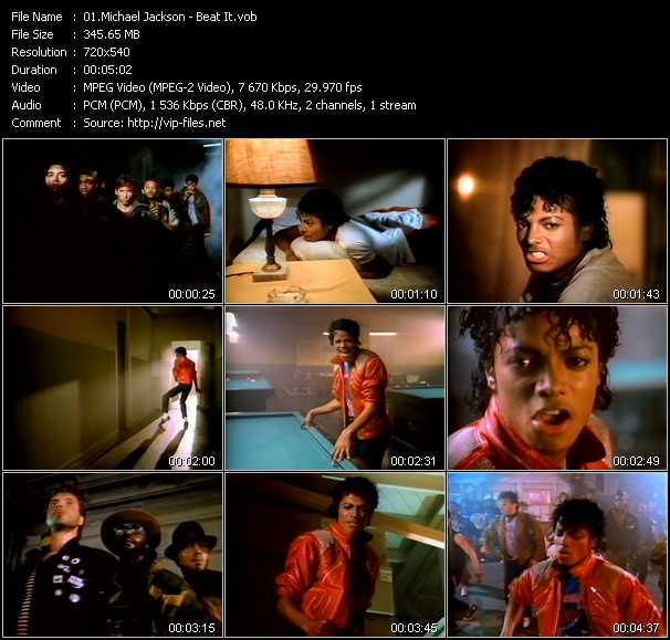 video Beat It screen
