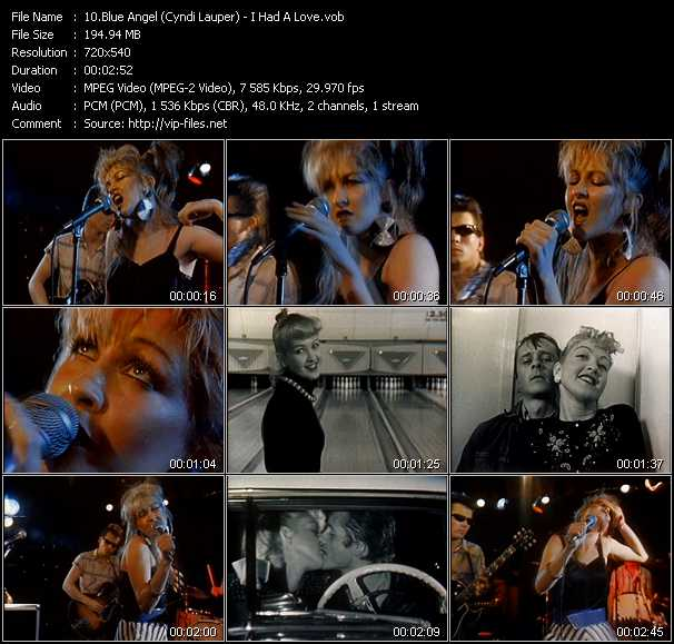 Blue Angel (Cyndi Lauper) video screenshot