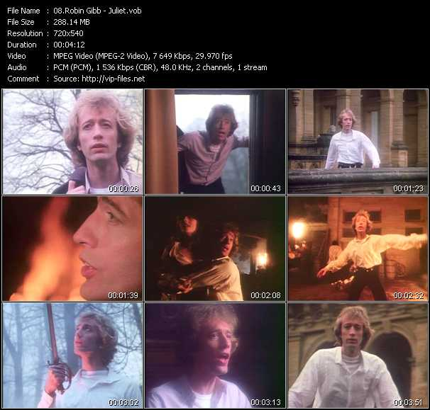 Robin Gibb video screenshot