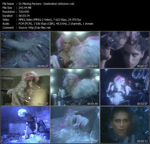 Missing Persons video screenshot