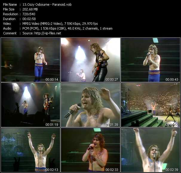Ozzy Osbourne video screenshot
