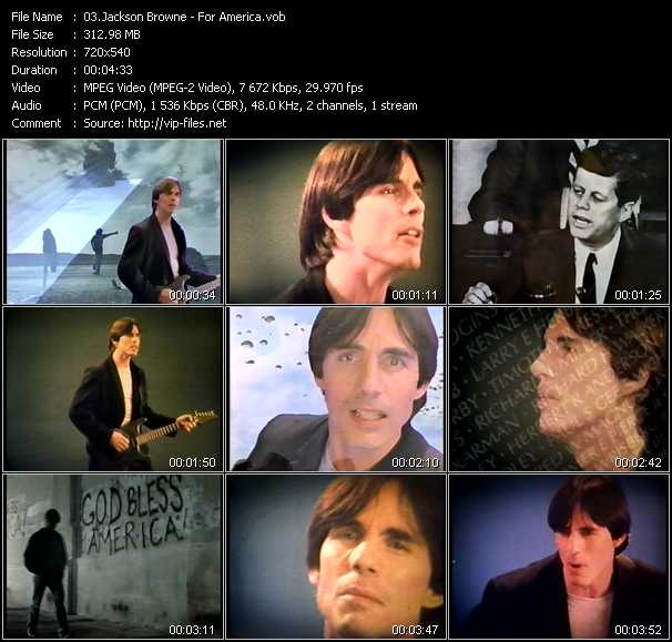 Jackson Browne video screenshot