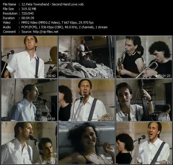 Pete Townshend video screenshot