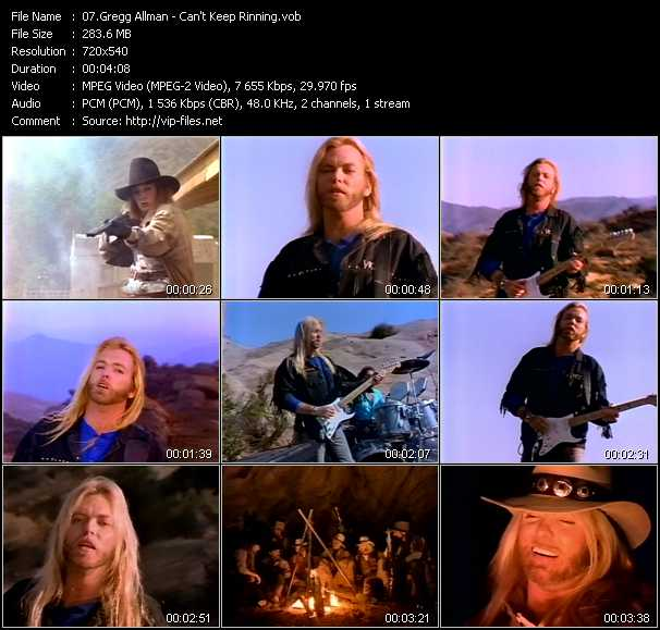Gregg Allman video screenshot