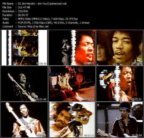 Jimi Hendrix video screenshot