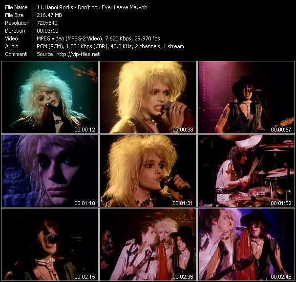 Hanoi Rocks video screenshot