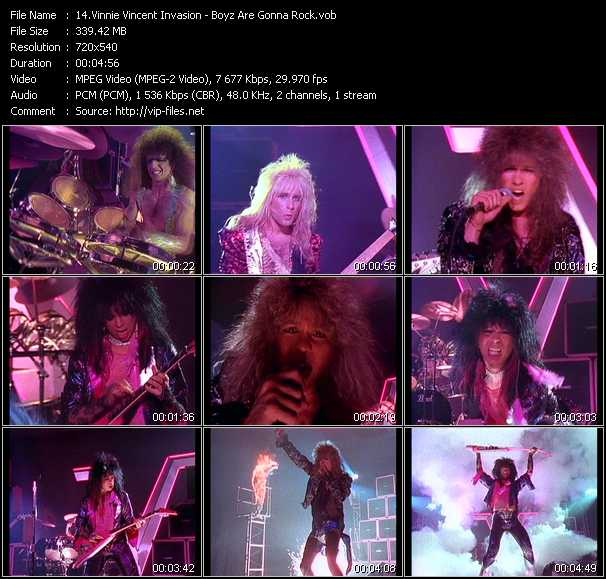 Vinnie Vincent Invasion video screenshot