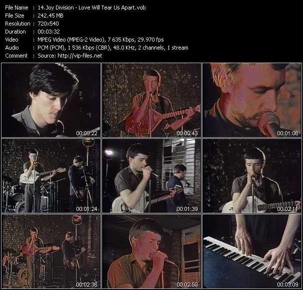 Joy Division video screenshot