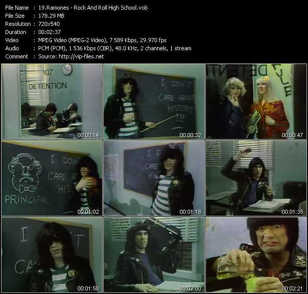 video Rock And Roll High School screen