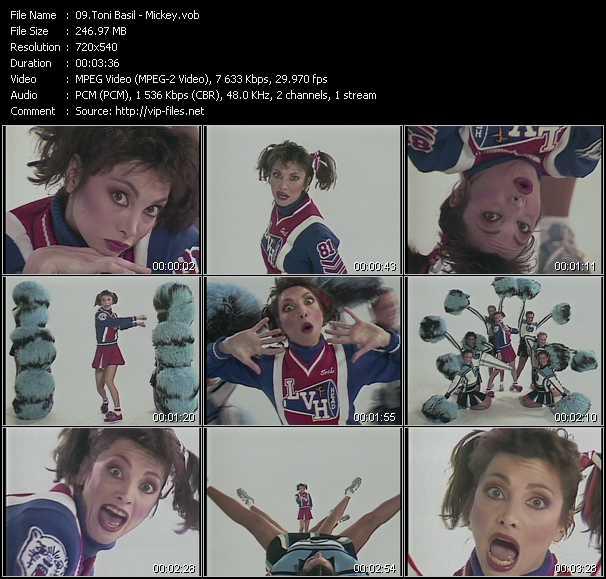 Toni Basil video screenshot