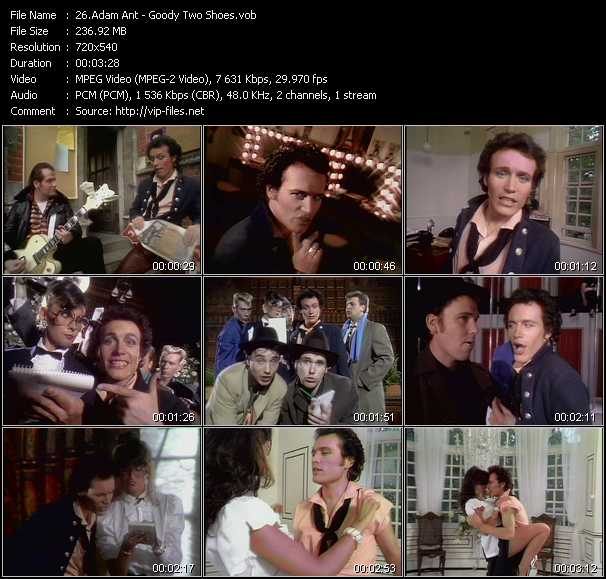 Adam Ant video screenshot