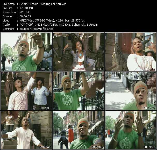 Kirk Franklin video screenshot