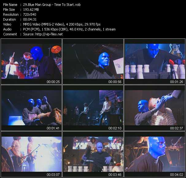 Blue Man Group video screenshot