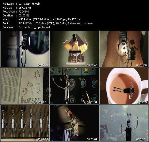 Psapp video screenshot