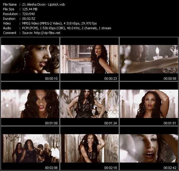 Alesha Dixon video screenshot