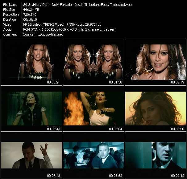 Hilary Duff - Nelly Furtado - Justin Timberlake Feat. Timbaland video screenshot