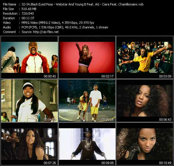 Black Eyed Peas - Webstar And Young B Feat. AG Aka The Voice Of Harlem - Ciara Feat. Chamillionaire video screenshot