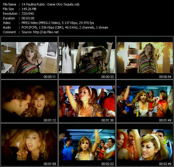 Paulina Rubio video screenshot