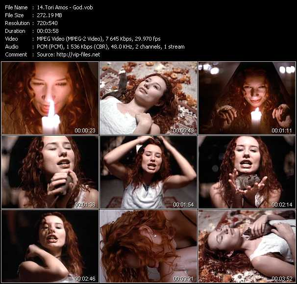 Tori Amos video screenshot