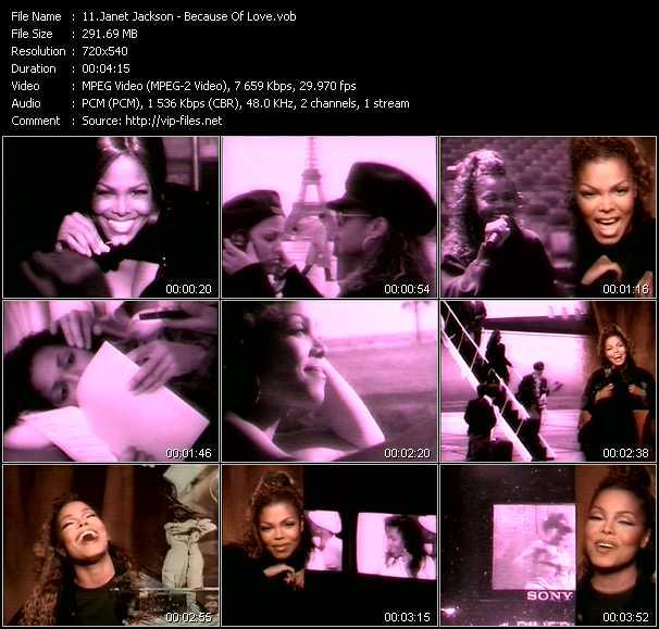 Janet Jackson video screenshot