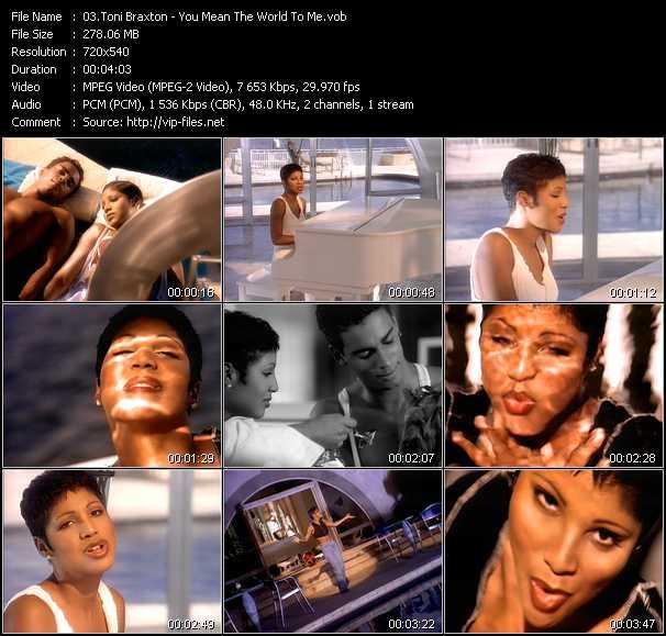 Toni Braxton video screenshot