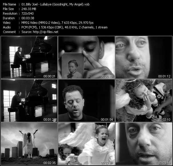 Billy Joel video screenshot