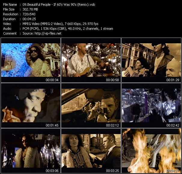 Beautiful People video screenshot