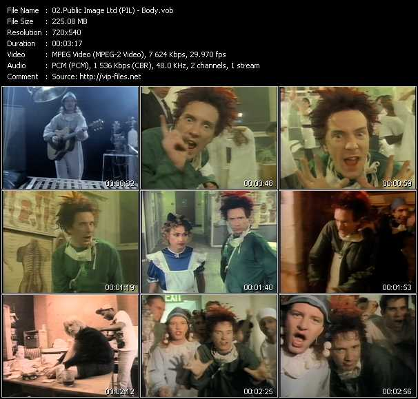 Public Image Ltd (PIL) video screenshot